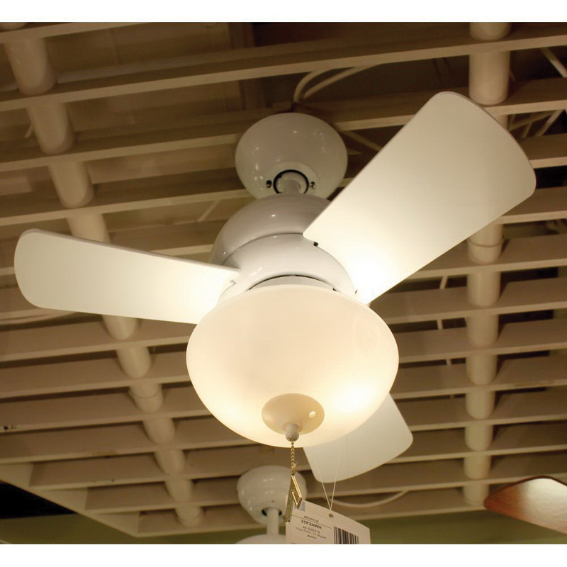 Monte Carlo 3tf24wh Compact Ceiling Fan With Light 3 Blade Sd White Micro 24
