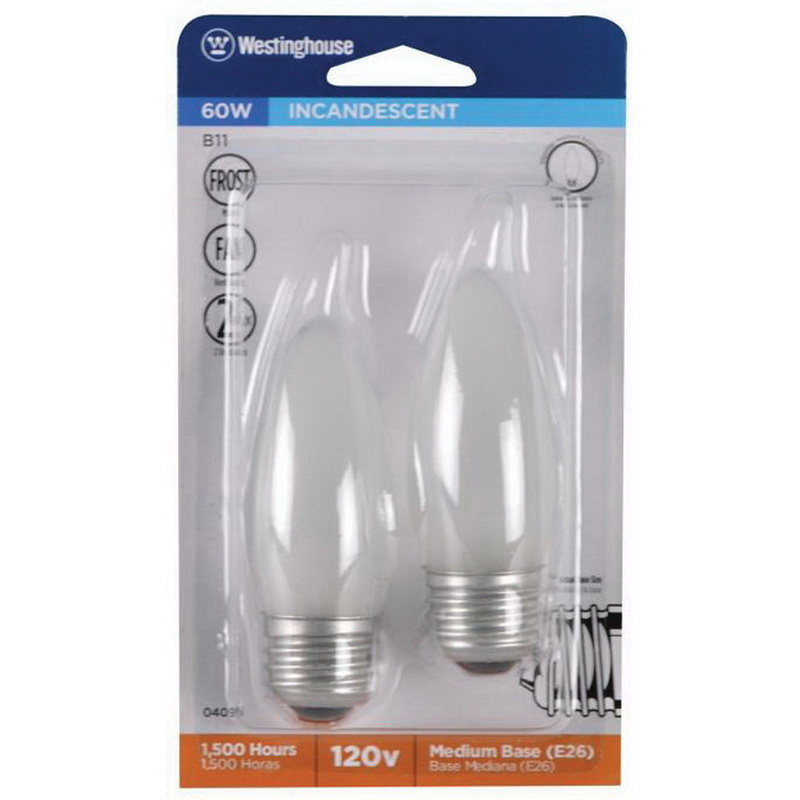 2-Pack WESTINGHOUSE LIGHTING CORP Westinghouse Lighting  04095 Corp 60-watt Frosted Fan Bulb