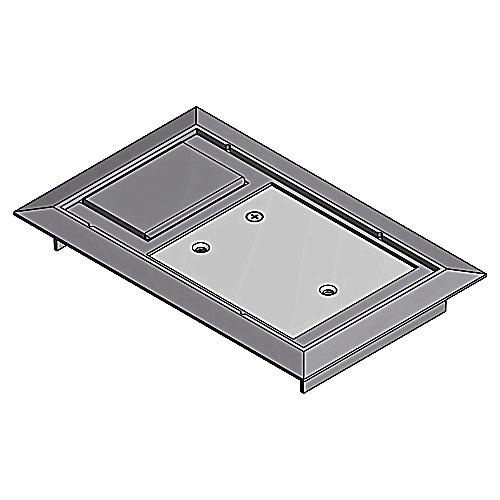 STEEL CITY 664-CST-SW-GRY Floor Box Cover,8-1//8 in.,Gray