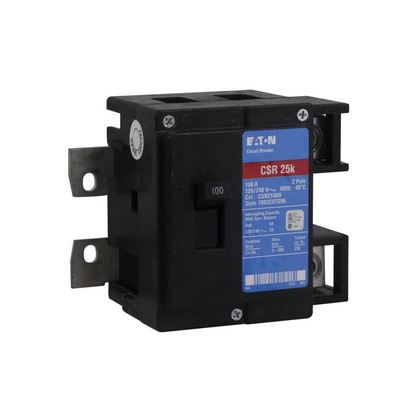 Eaton CSR2100 Type CSR Main Circuit Breaker 2-Pole 100-Amp 120/240 Volt
