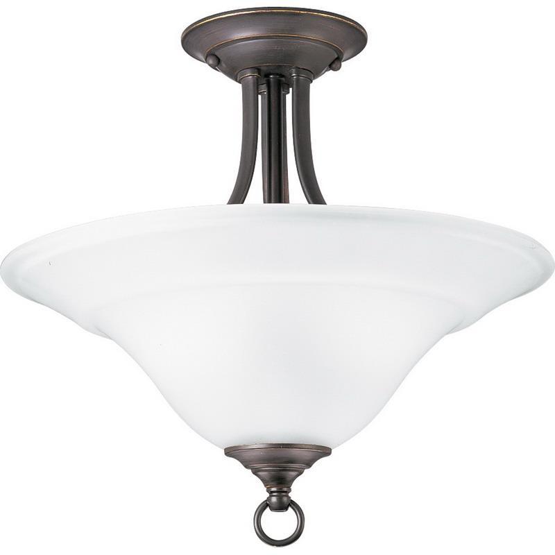 Progress Lighting P3473 20 2 Light Convertible Bowl Ceiling Fixture 100 Watt 120 Volt Antique Bronze Trinity