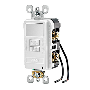 Leviton Afsw1 W Afsw1 Series Outlet Branch Circuit