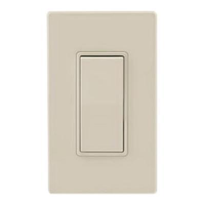 Decora Rocker 3-Way AC Quiet Switch Leviton 5603-2T 15 Amp Light Almond Residential Grade Grounding 120//277 Volt
