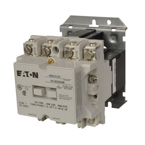 Eaton A201K1CA 3-Pole Non-Reversing Full Voltage Front Connected Contactor on