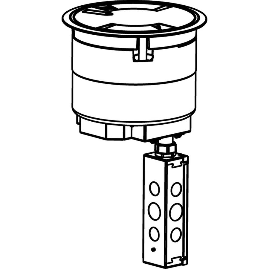 wiremold 8atc2pnk die cast aluminum recessed prewired