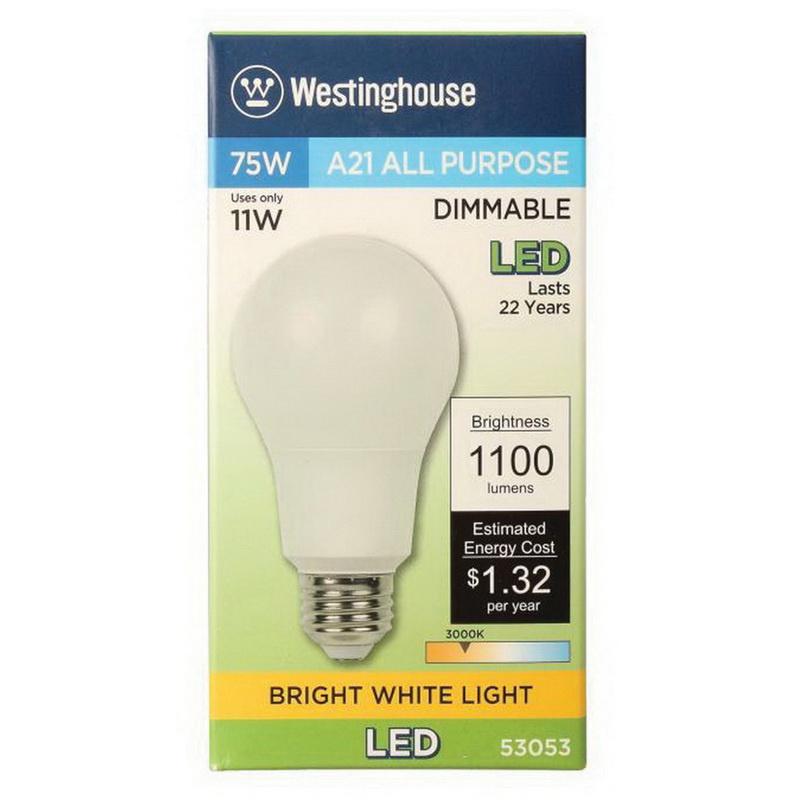 Dimmable A21 Led Medium Lighting Base 5305300 Lamp Westinghouse E26 Aq3Rj54L