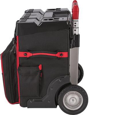 Milwaukee Tool 48 22 8220 53 Pockets Zipper Hardtop Rolling Bag 1680d Ballistic Nylon Red 16 Inch X 24 21