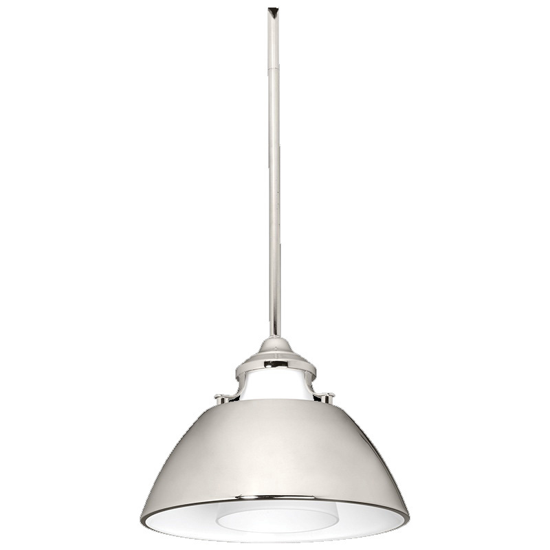 Progress Lighting P500013 104 1 Light Pendant 100 Watt 120 Volt Ac Polished Nickel Carbon