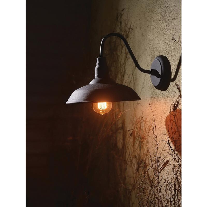 Hunter Lighting 93506bl 1 Light Wall 60 Watt Black
