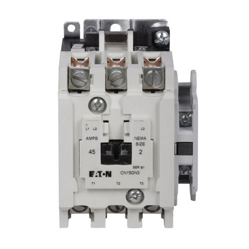 Eaton CN15GN3BB 3-Pole Freedom Series Non-Reversing Contactor NEMA on 3 phase fan wiring, 3 phase breaker wiring, 3 phase magnetic contactor, 3 phase receptacle wiring, 3 phase electrical wiring, 3 phase compressor wiring, 3 phase starter wiring, 3 phase panel wiring, 3 phase heater wiring, 3 phase switch wiring, 3 phase pump wiring, 3 phase wiring symbols, 3 phase electrical installation, 3 phase transformer wiring, 3 phase connector wiring, 3 phase contactor with overload, 3 phase plug wiring, 3 phase brake wiring, 3 phase overload wiring, 3 phase meter wiring,