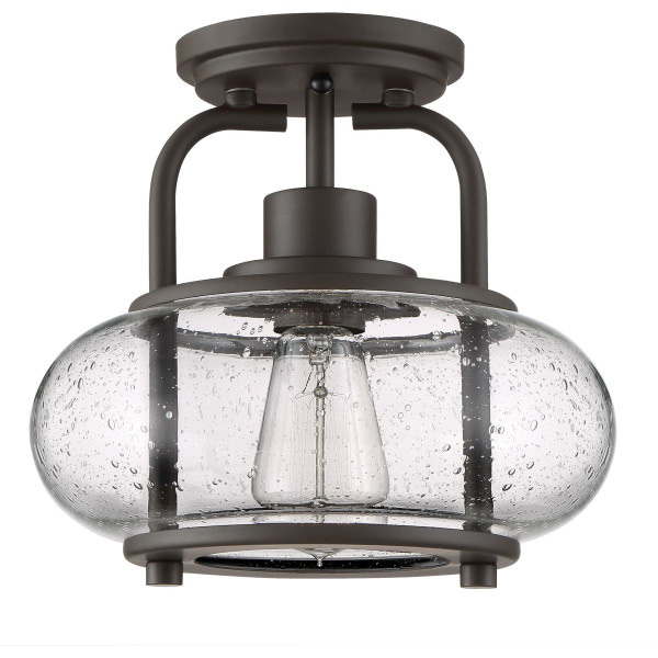 Quoizel Lighting Trg1710oz 1 Light Semi Flush Mount Fixture 60 Watt 120 Volt Ac Old Bronze Trilogy