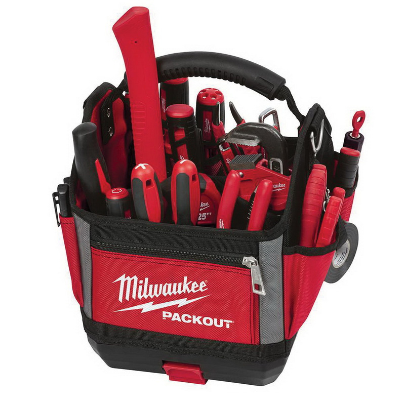 Milwaukee Tool 48 22 8310 Storage Tote 1680d Ballistic Red 11 Inch X 10 13 Packout