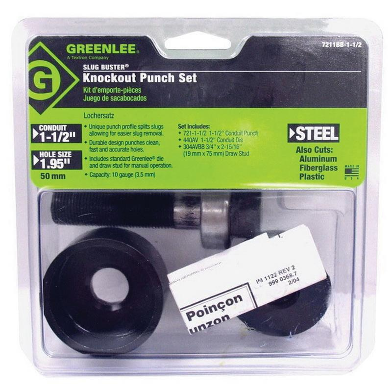 USA New GREENLEE Slug Buster Knock Out Draw Stud 304AVBBP
