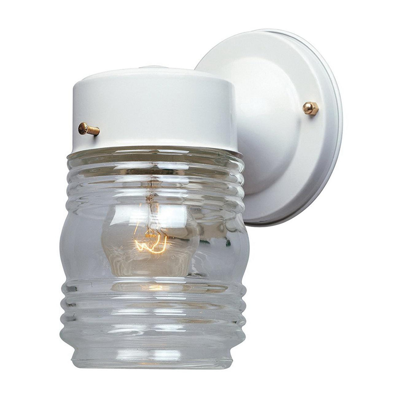 Designers Fountain 2061wh 1 Light Wall Jelly Jar Lantern 100
