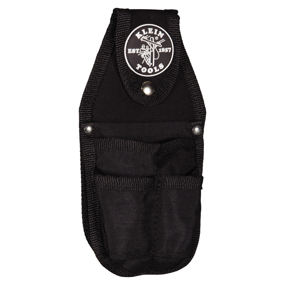 Klein Tools 5482 Cordura® Ballistic Nylon Snap Loop Back Pocket Tool Pouch  Upto 2-Inch Belt Width