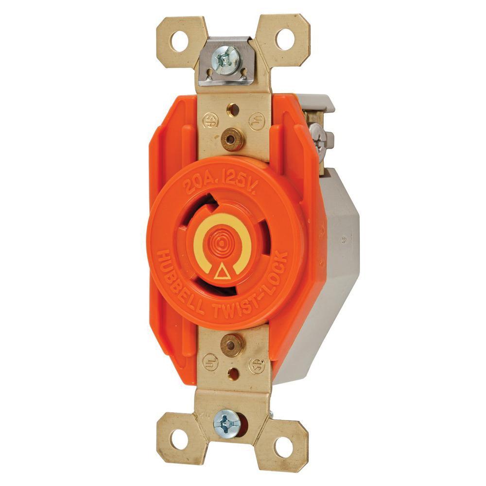 Hubbellwiring Ig2310 Single Locking Receptacle 2. Hubbellwiring Ig2310 Single Locking Receptacle 2pole 3wire 20. Wiring. Wiring Single Pole 20a Outlet At Scoala.co