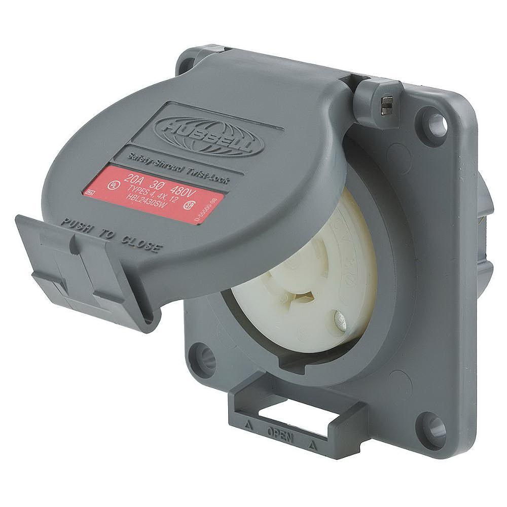 Hubbell 3 Phase Wiring Wire Center Catalog Hbl2430sw Watertight Shrouded Single Locking Rh Usesi Com 208 Diagram