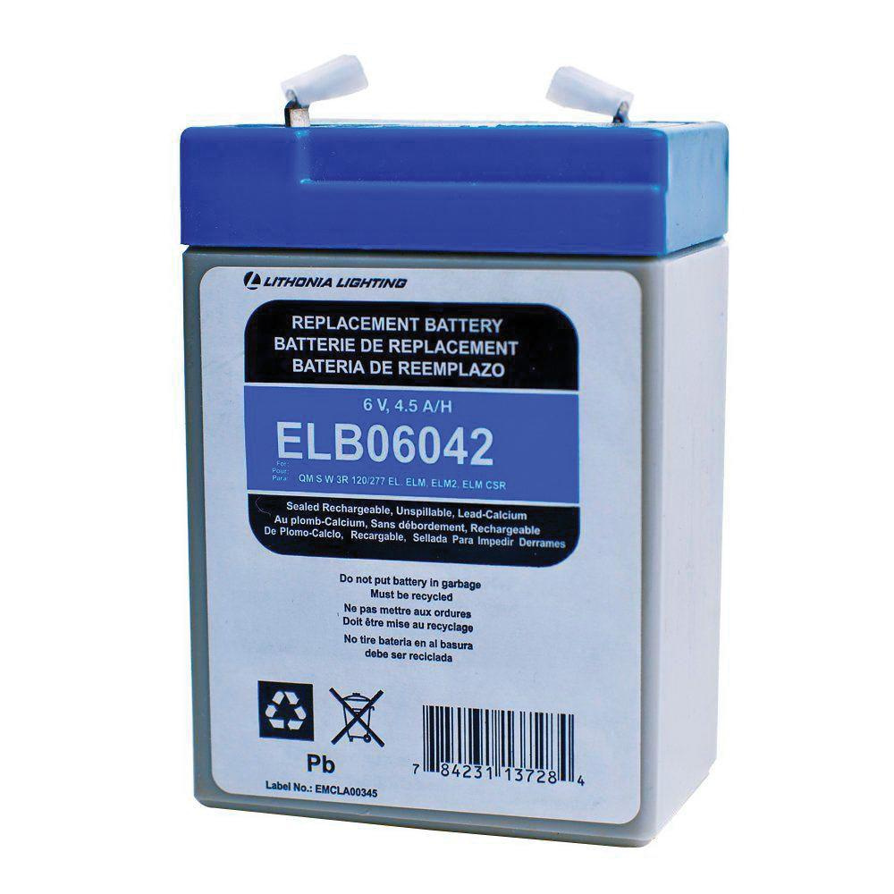 Lithonia Lighting Emergency Light Battery: Lithonia Lighting ELB-06042 Rechargeable Replacement Lead