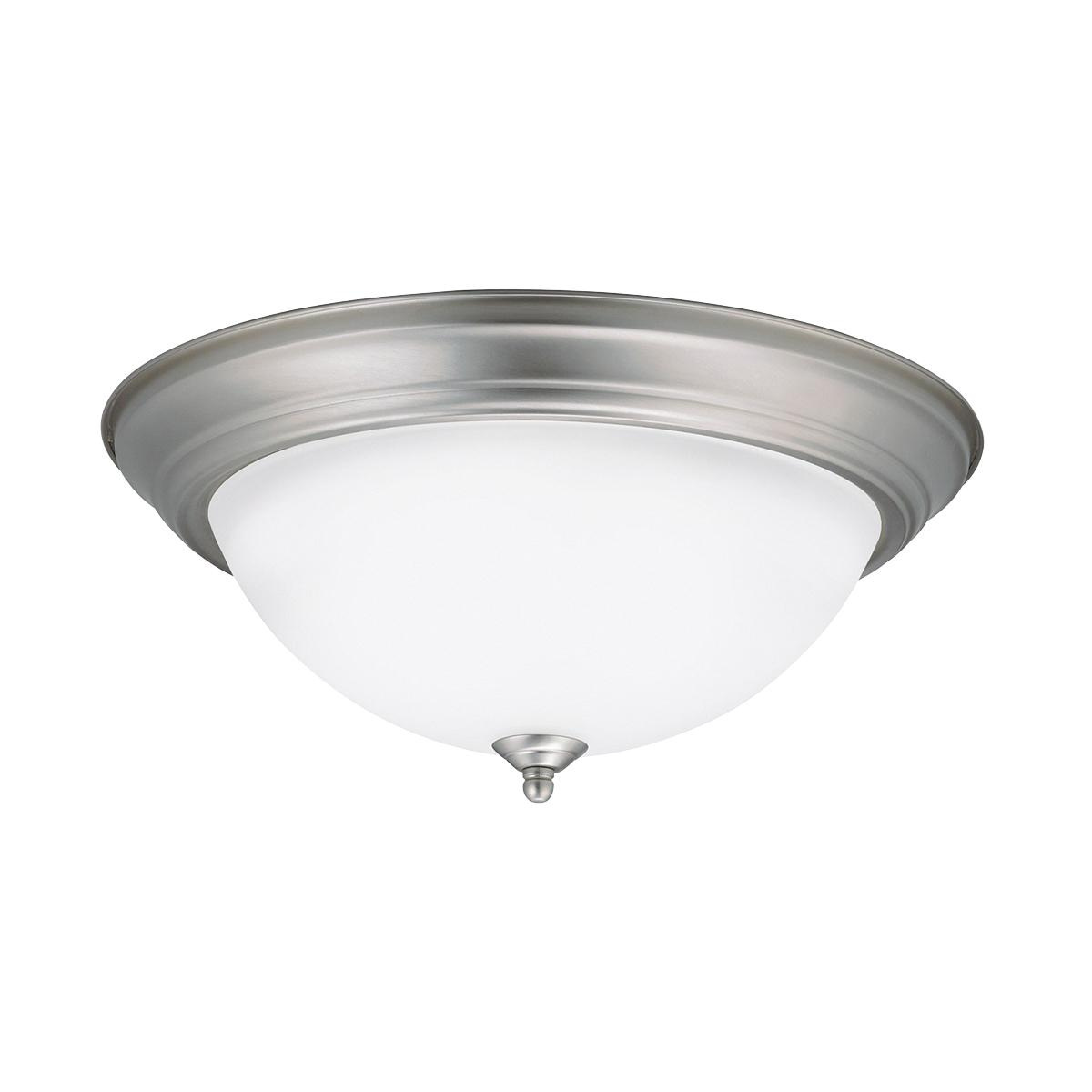 Kichler 8116NI 3-Light Flush Mount Ceiling Fixture 60 Watt 120 Volt ...