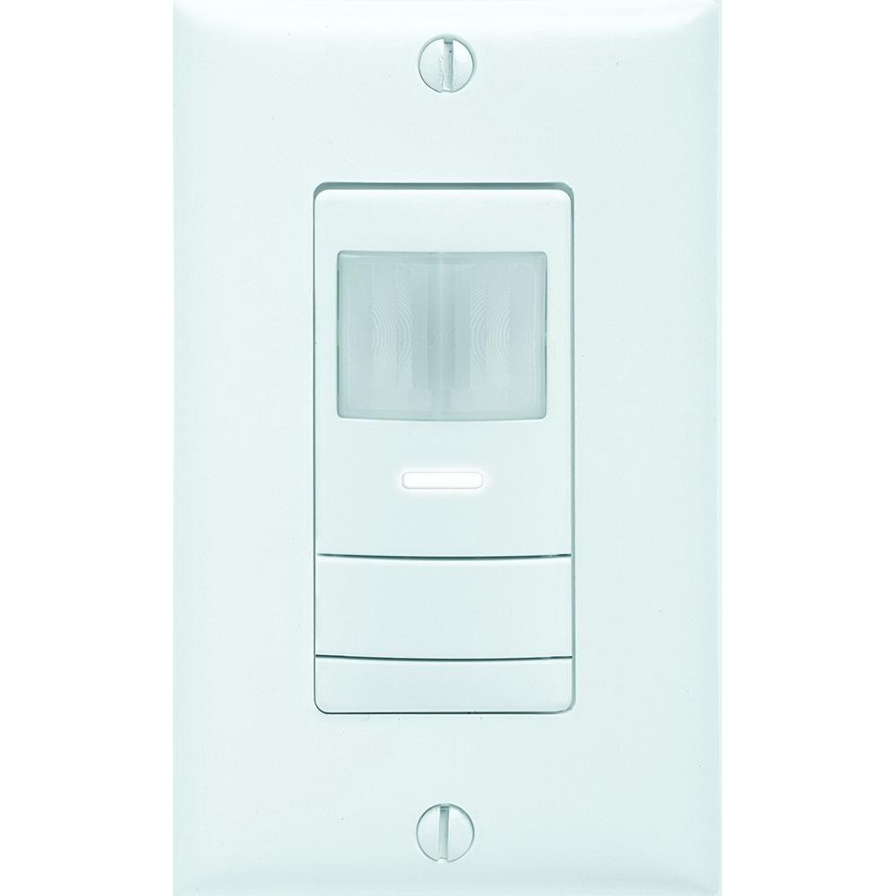 Lithonia Lighting Wsx Pdt Wh Dual Technology Pir Microphonics Wiring A Light Sensor Switch Occupancy Upto 36 Ft 2025 Sq 120 277 Volt Ac White