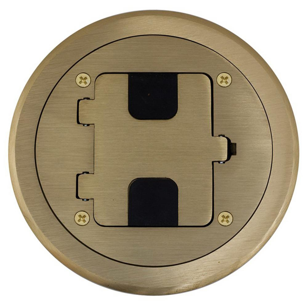 Hubbell Wiring Rf406br Solid Brass Non Metallic Flange And