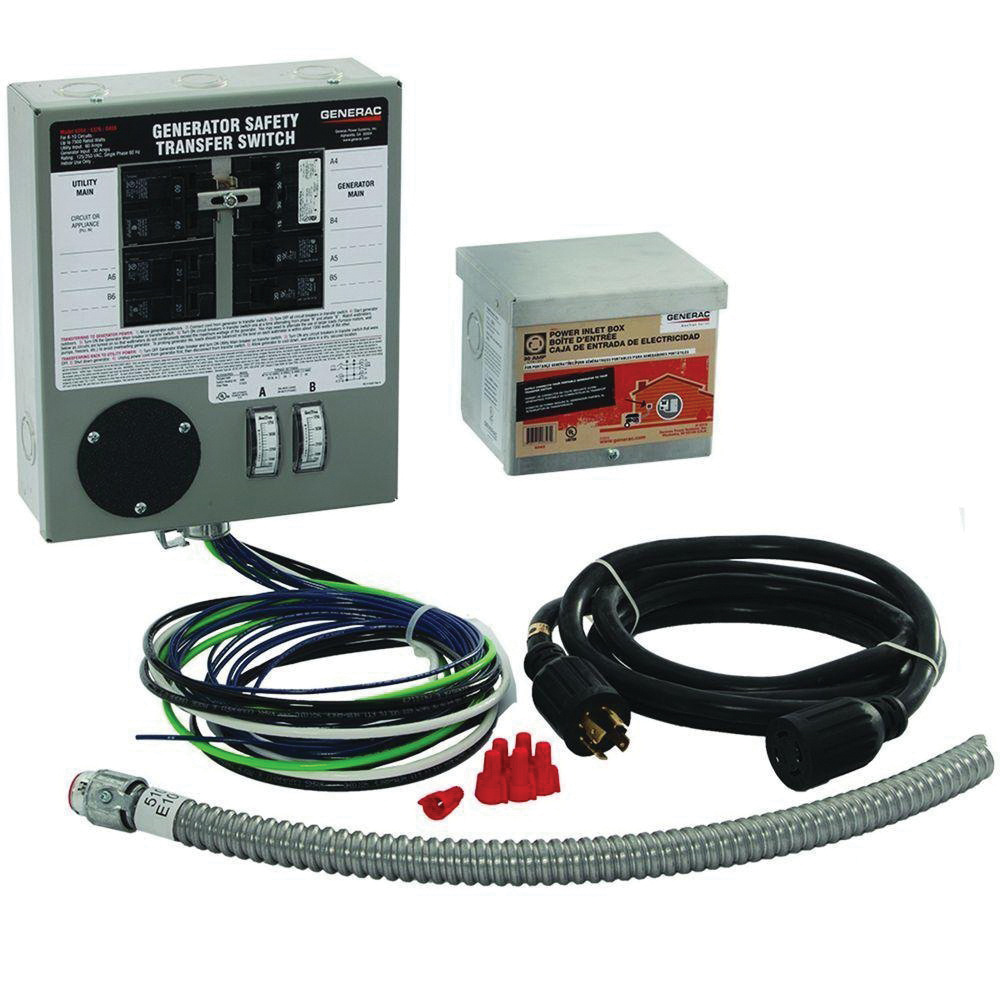 Generac 6408 Manual Transfer Switch Kit For Use With GP3250