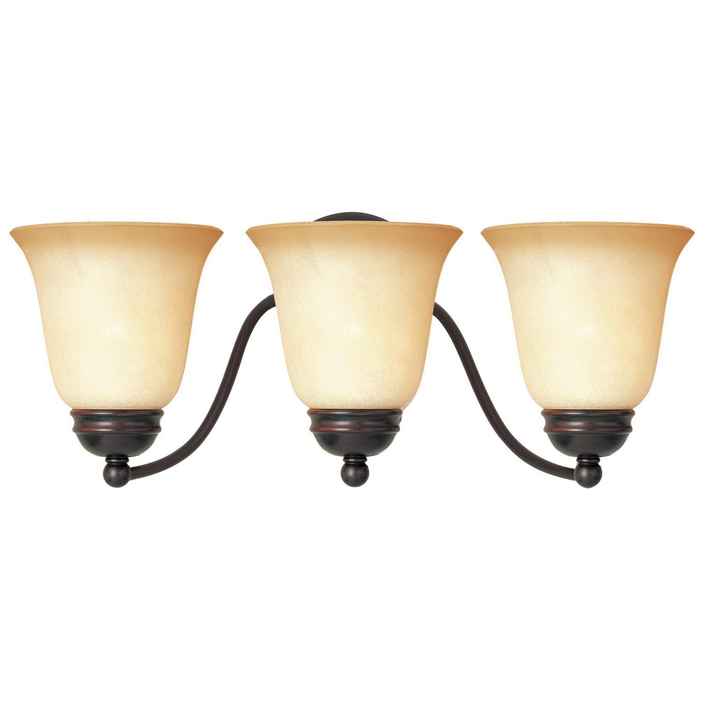 Maxim Lighting 2122WSOI Dimmable 3 Light Bath And Vanity Light 180 Watt 120  Volt AC