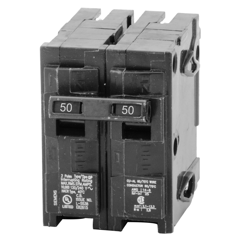 Sie Q250 Plug-In Mount Type QP Circuit Breaker 2-Pole 50 ... Wiring Amp Breaker on wiring 30 amp breaker, wiring main breaker panel, wiring 100 amp breaker, wiring gfci circuit breaker,