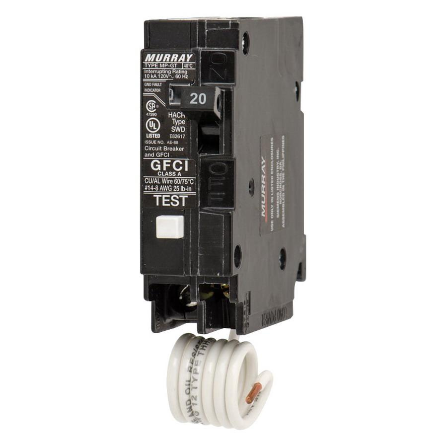 Murray MP120GF Plug-In Mount Type MP-GT Ground Fault Circuit