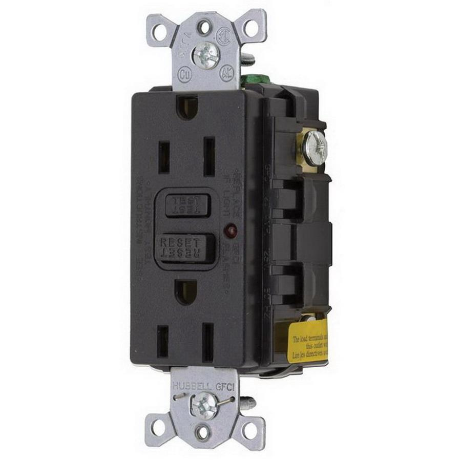 Hubbell Wiring Gf15bkla Commercial Grade Gfci Receptacle With Led Receptacles In Parallel Indicator 15 Amp 125 Volt Ac
