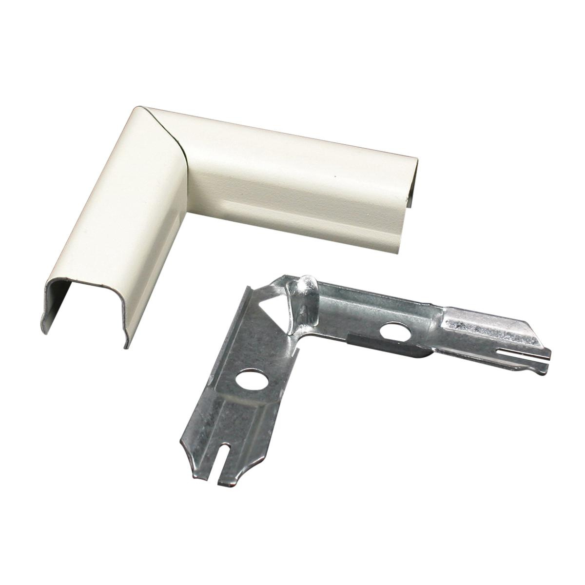 Wiremold 711wh Flat Elbow Fitting Steel White For Use With 700 Surface Wiring Conduit 700reg Series Single Channel