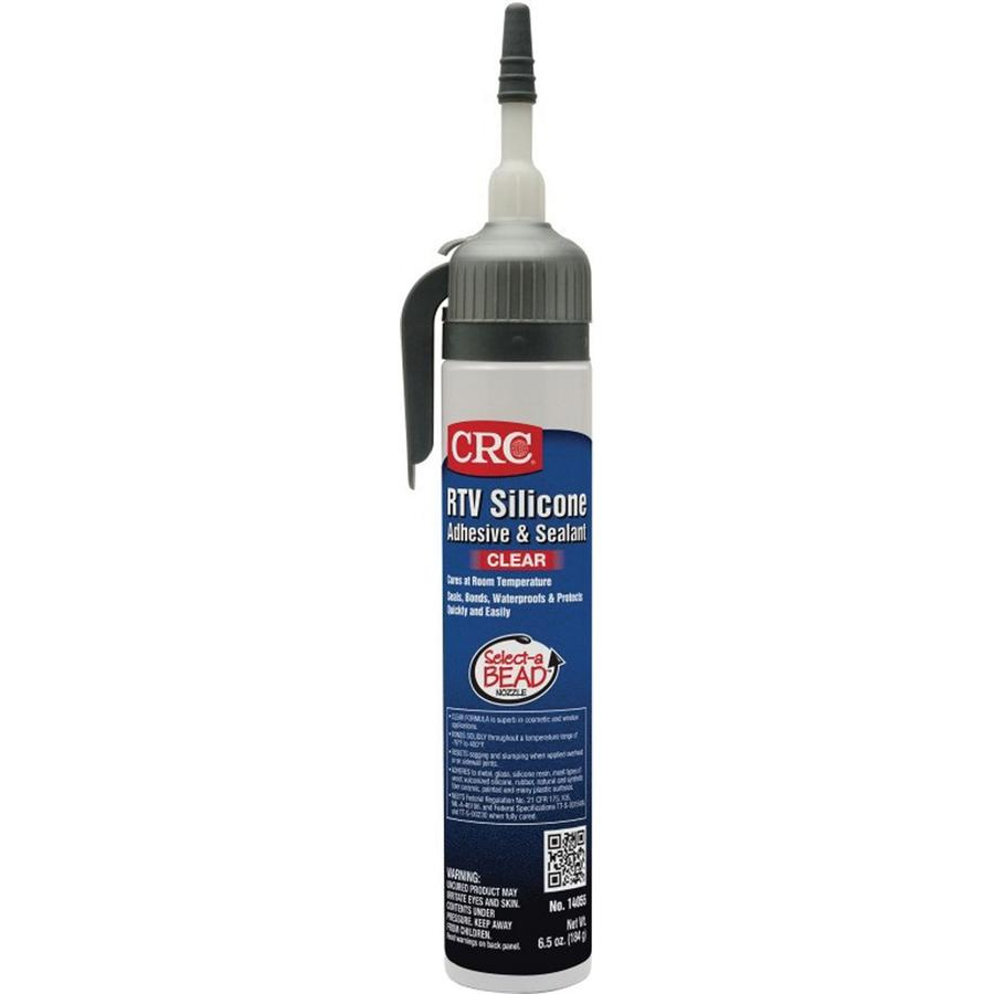 CRC Industries 14055 Non-Flammable RTV Silicone Sealant 6 5 oz Pressurized  Tube With Select-a-BEAD® Nozzle Clear