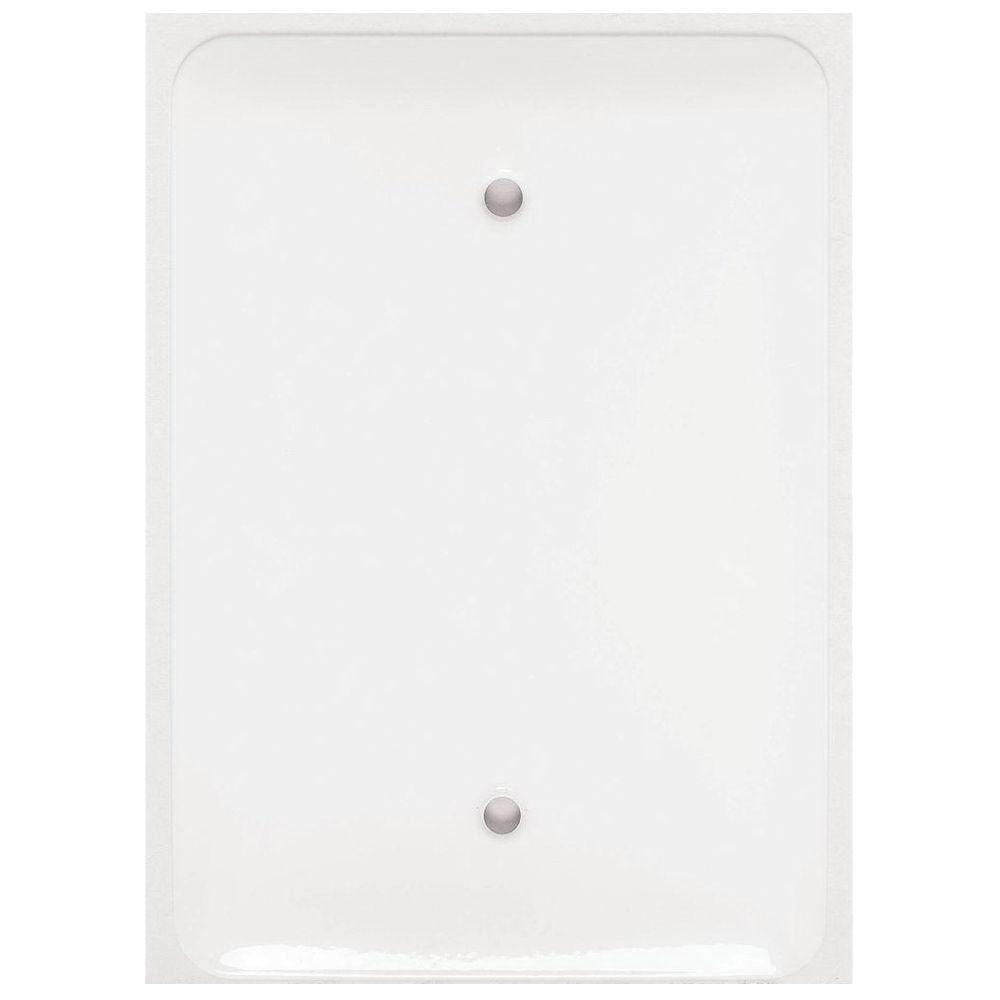 Mulberry 76751 Steel Box Mount Princess Size 1 Gang Blank Wallplate Electrical Wiring Sizes White