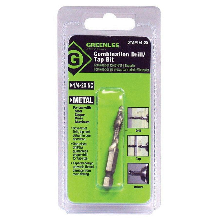 1//4-20NC GREENLEE DTAP1//4-20 Combination Drill and Tap Bit