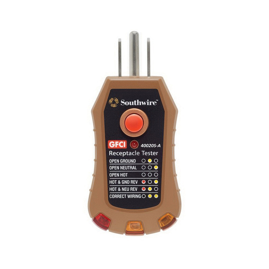 Southwire 40020s Gfci Receptacle Tester Circuit Testers Tracers Featured Electrical And At Test Equipment