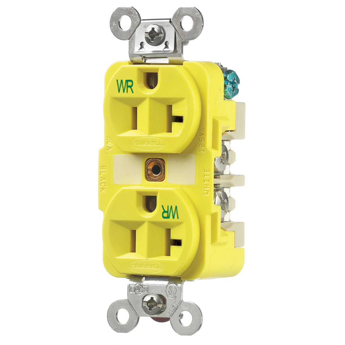 Hubbell Wiring Hbl53cm62 3 Wire 2 Pole Specification Marine Grade Duplex Receptacle Extra Heavy