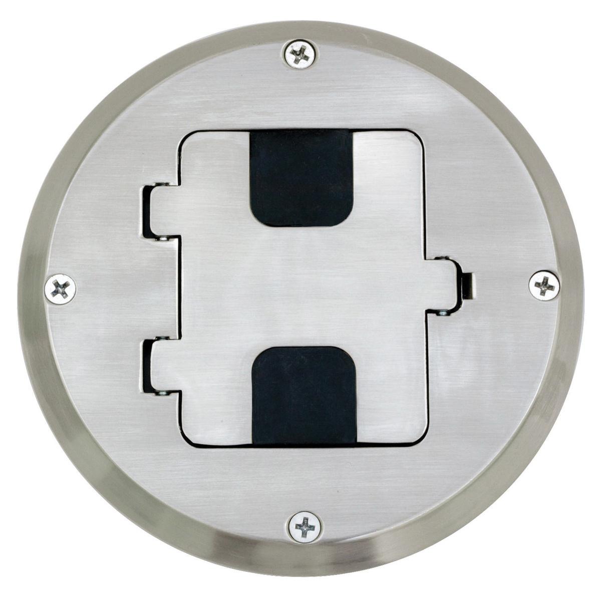 Hubbell Wiring Rf515ni 1 Gang Flush Floor Box Kit 5 6 Inch
