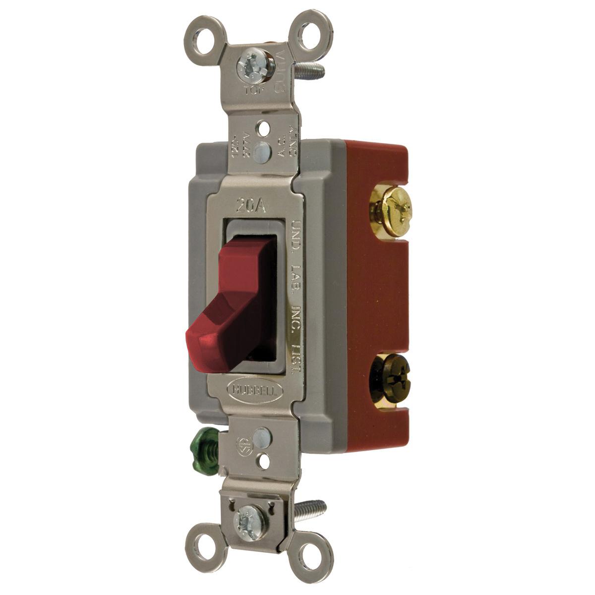 hubbell-wiring hbl1223r 120/277-volt ac 20-amp 3-way