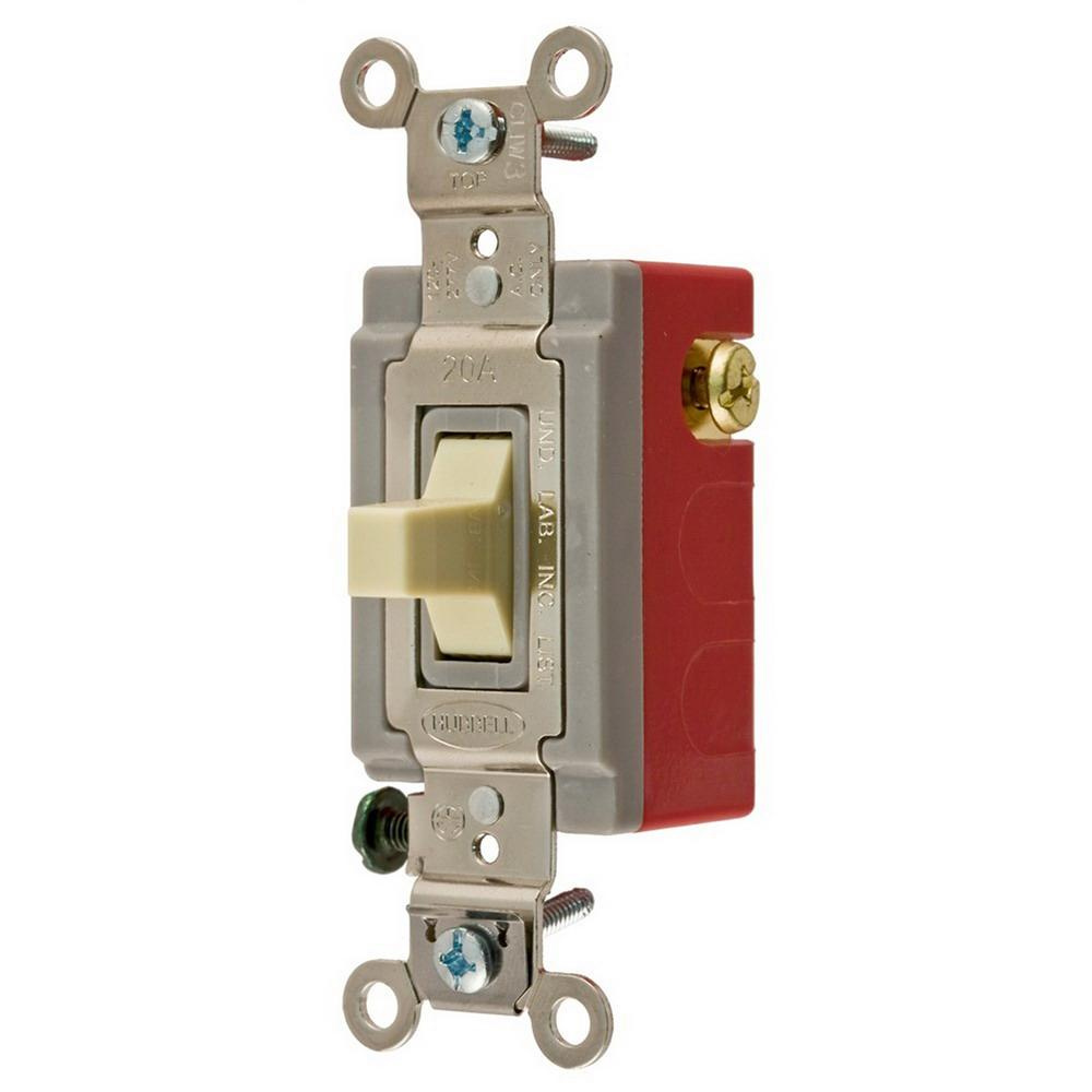 Hubbell Wiring Hbl1556i 120 277 Volt Ac 15 Amp Spdt 1 Pole Extra Heavy Duty Toggle Switch Onon
