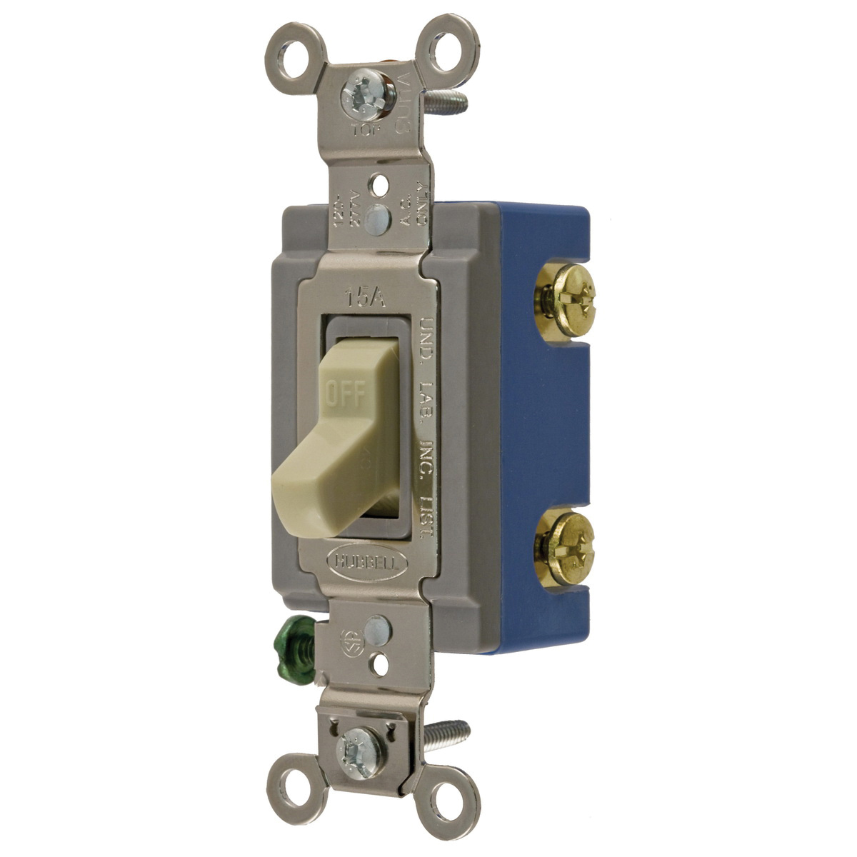 Hubbell Wiring Hbl1201i 1 Pole 120 277 Volt Ac 15 Amp Extra Heavy How To Wire A Single Light Switch Diagram Electrical