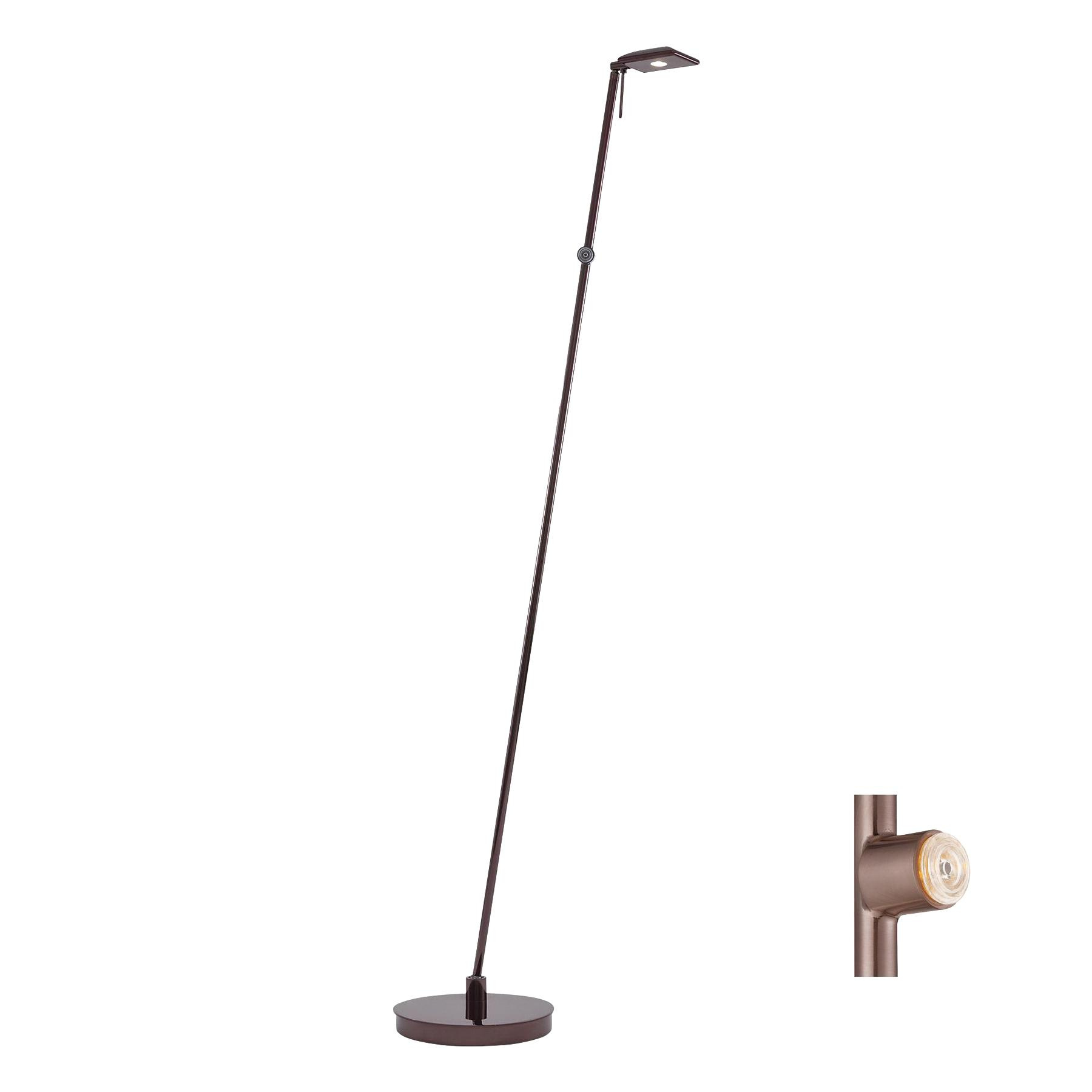 George kovacs p4324 631 modern 1 light led pharmacy floor lamp 8 george kovacs p4324 631 modern 1 light led pharmacy floor lamp 8 watt chocolate aloadofball