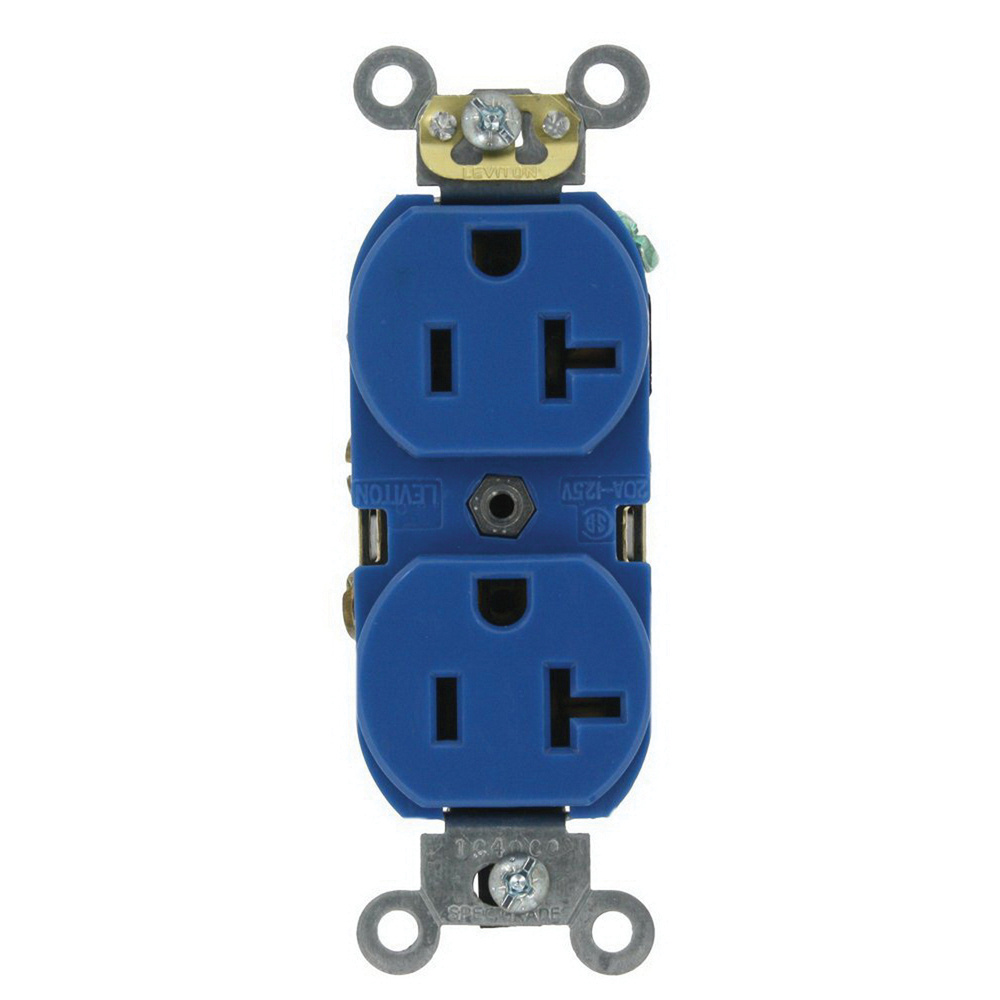 Leviton 5362 Sbu Industrial Specification Grade Heavy Duty Smooth Ac Receptacle Wiring Face Duplex Outlet
