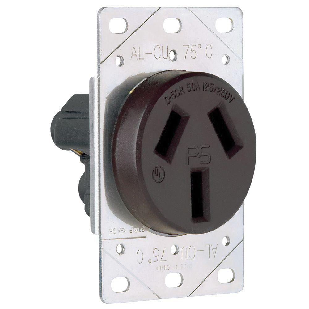 Pass & Seymour 3890 Straight Blade Power Outlet Receptacle 50 Amp ...