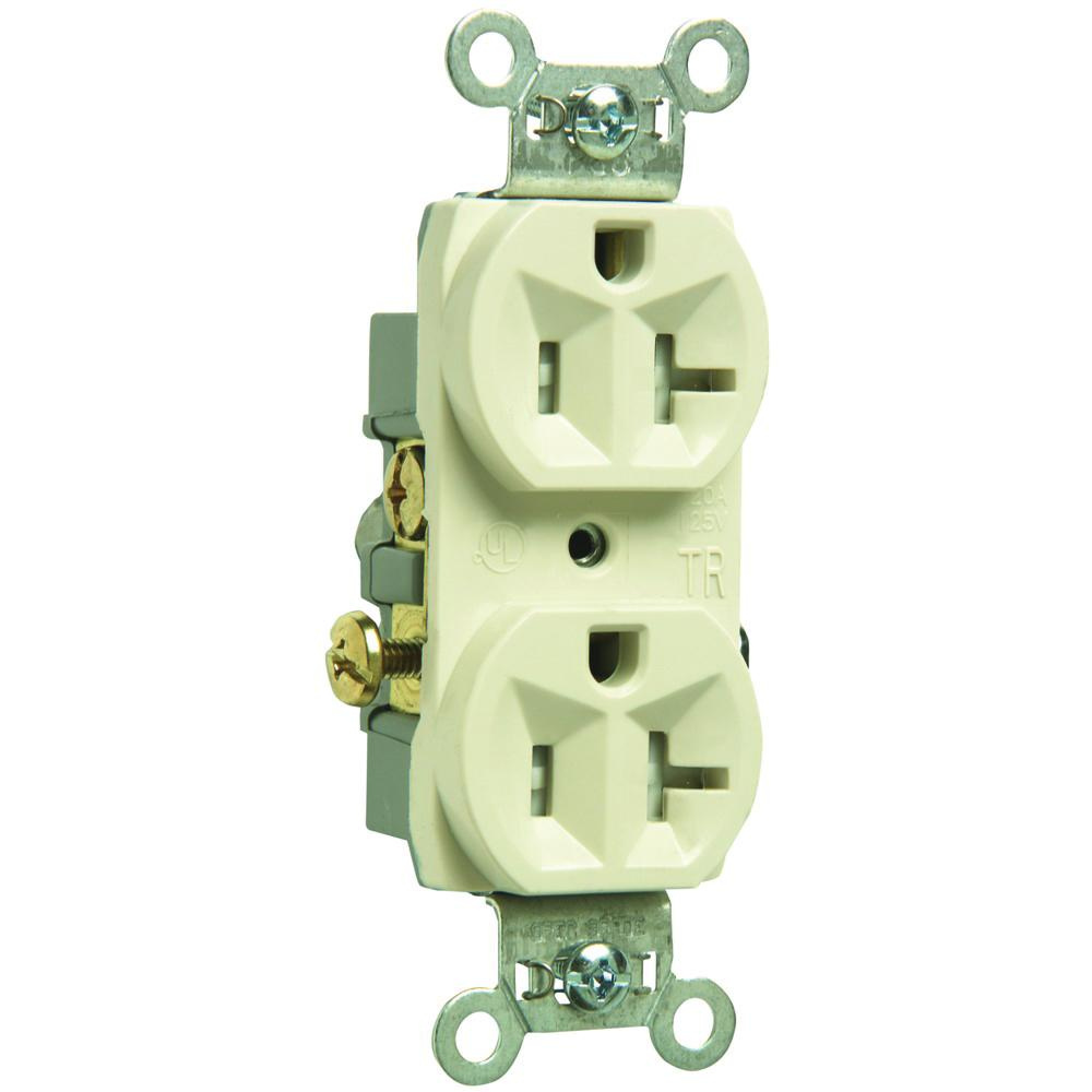 Pass Seymour Tr20 La Commercial Specification Grade Tamper Duplex Receptacle Wiring Resistant Straight Blade