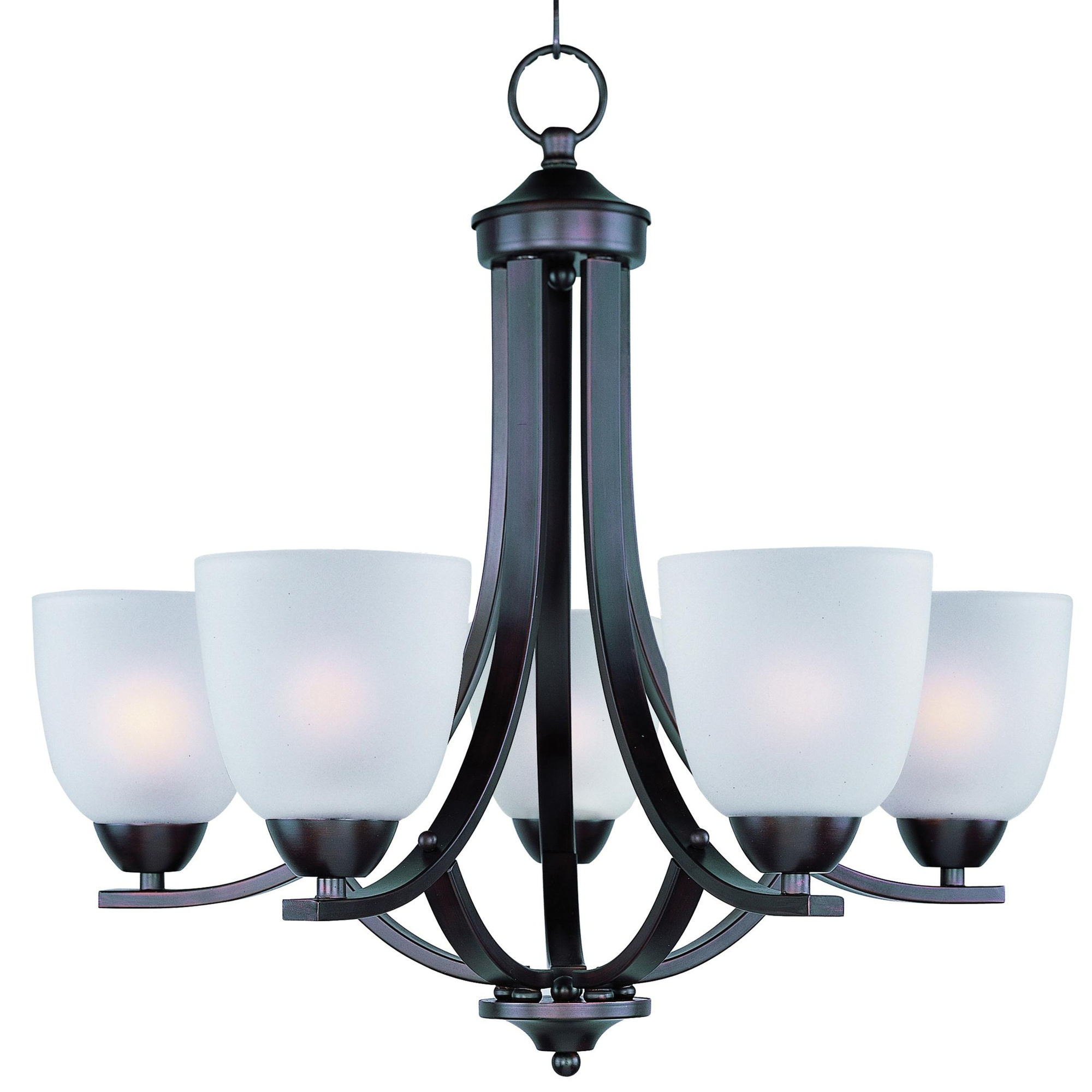 Maxim lighting 11225ftoi 5 light 1 tier chandelier 60 watt 120 volt oil rubbed bronze axis chandeliers indoor fixtures lighting lighting