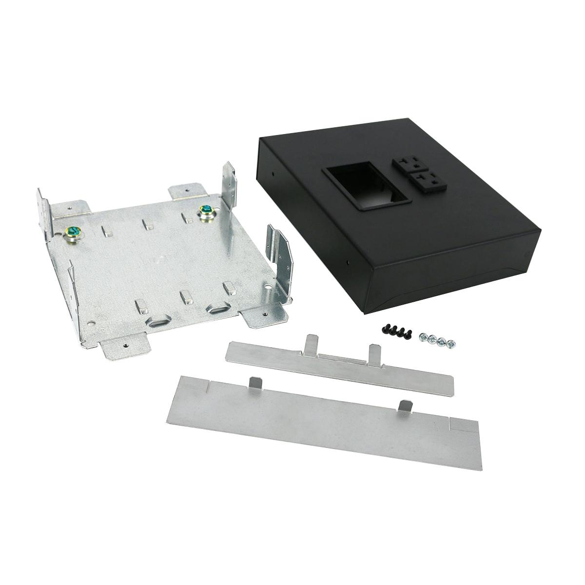 Wiremold Ofr48 2mrtc Transition Box Steel Black Powder Coated For