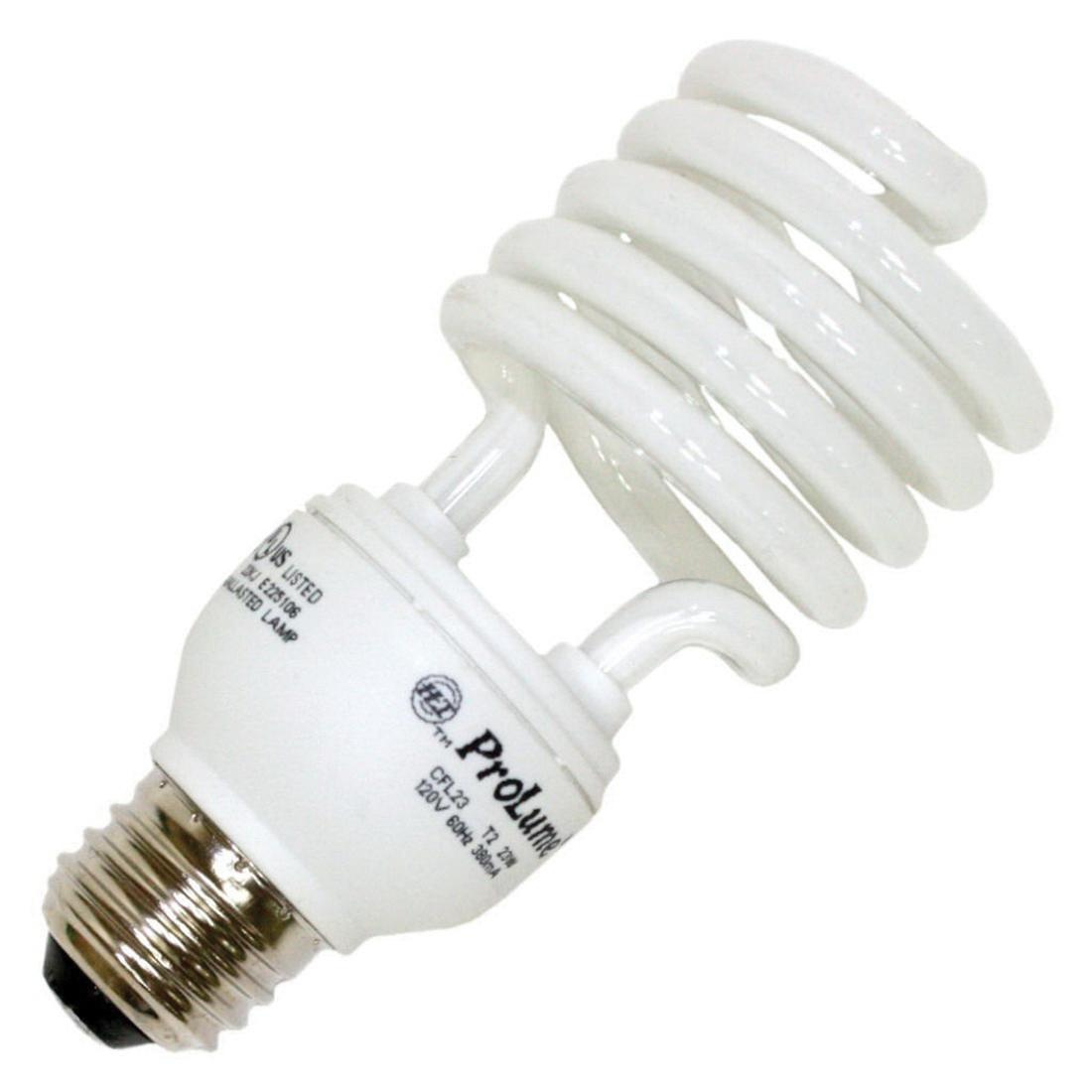 Halco Lighting 45077 T2 Spiral Compact Fluorescent Lamp 23 Watt E26 ...