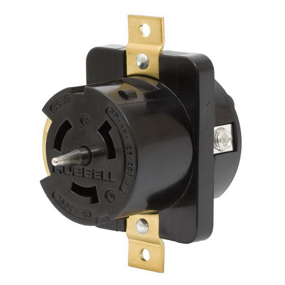 Hubbell Wiring Cs8269 Screw Mount Non Nema Single Receptacle 50 Amp Ac 250 Volt
