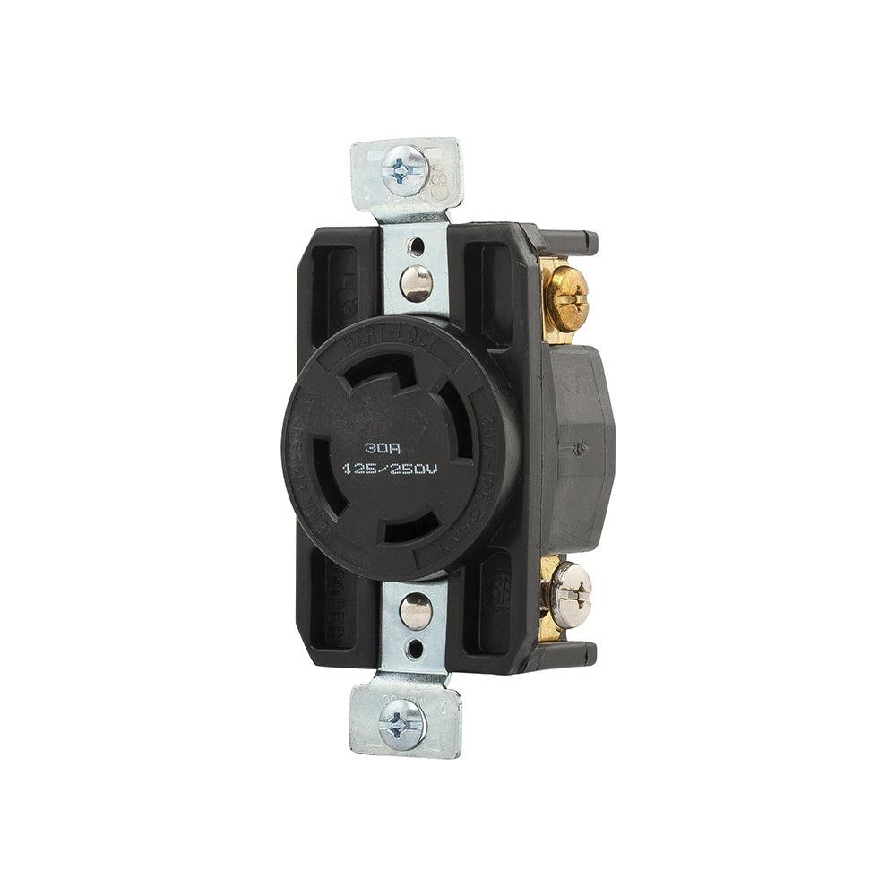 Cooper Wiring Device Ahl1430r Industrial Grade Single Locking A L1430 Plug Receptacle 125 250 Volt Ac 30 Amp