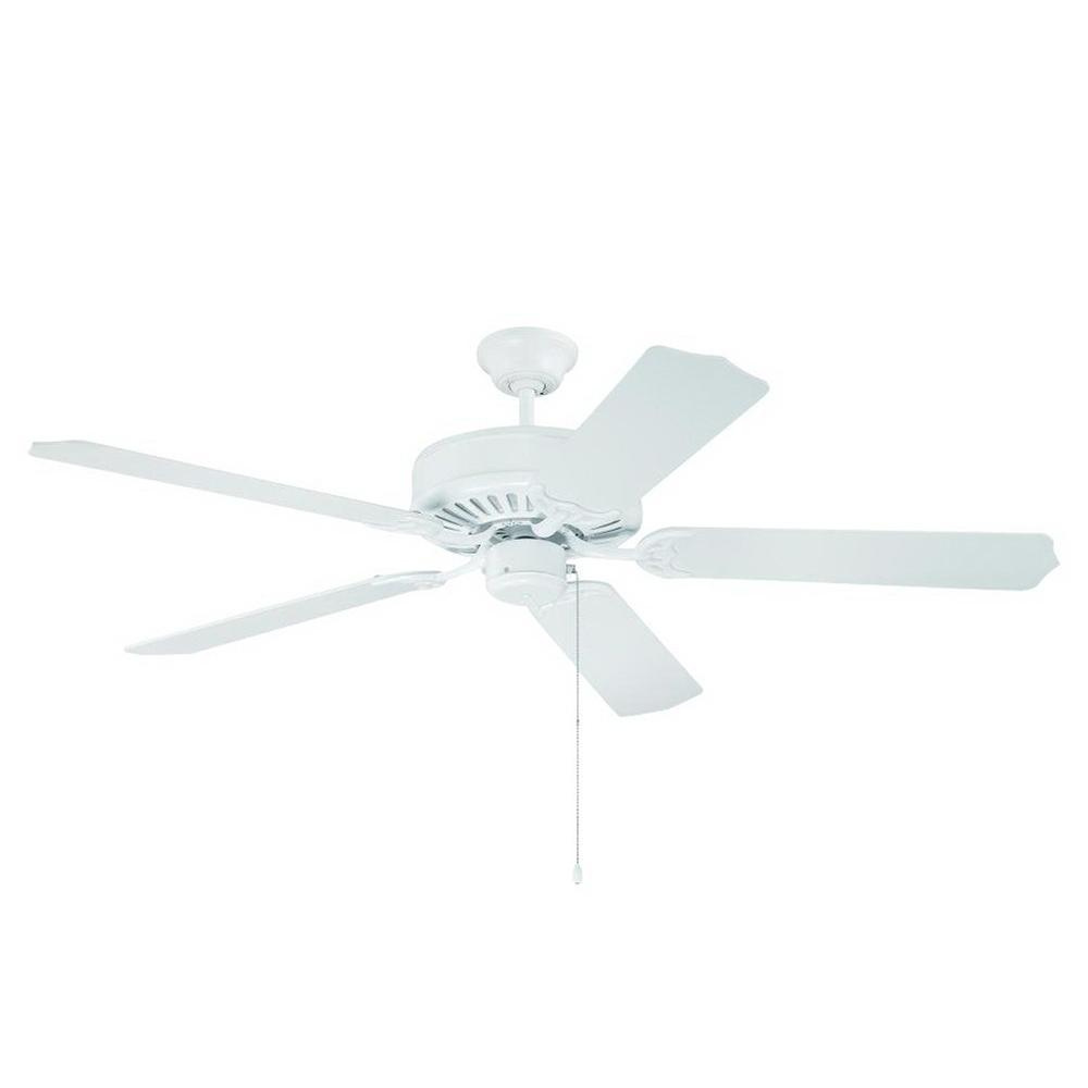Craftmade C52W Industrial Ceiling Fan 52 Inch 5 Blade 3 Speed White Pro  Builder   Ceiling Fans   Air Circulators   HVAC   HVAC | Electrical  Wholesalers